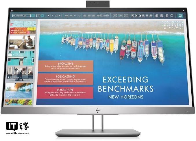 惠普推出EliteDisplay E243d显示器:搭载弹出式摄像头