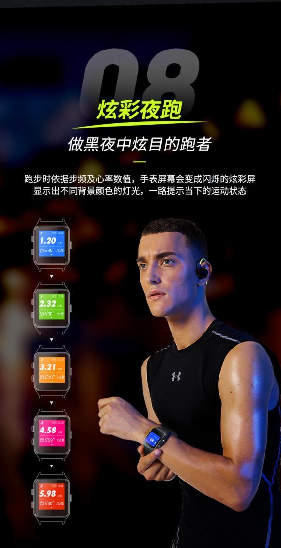 埃微P1C智能运动手表发布 记录7种游泳数据售价299元