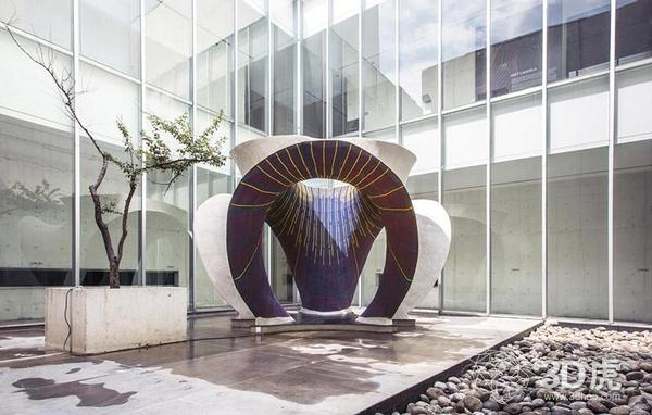 混凝土和3D编织技术结合生产出奇特建筑