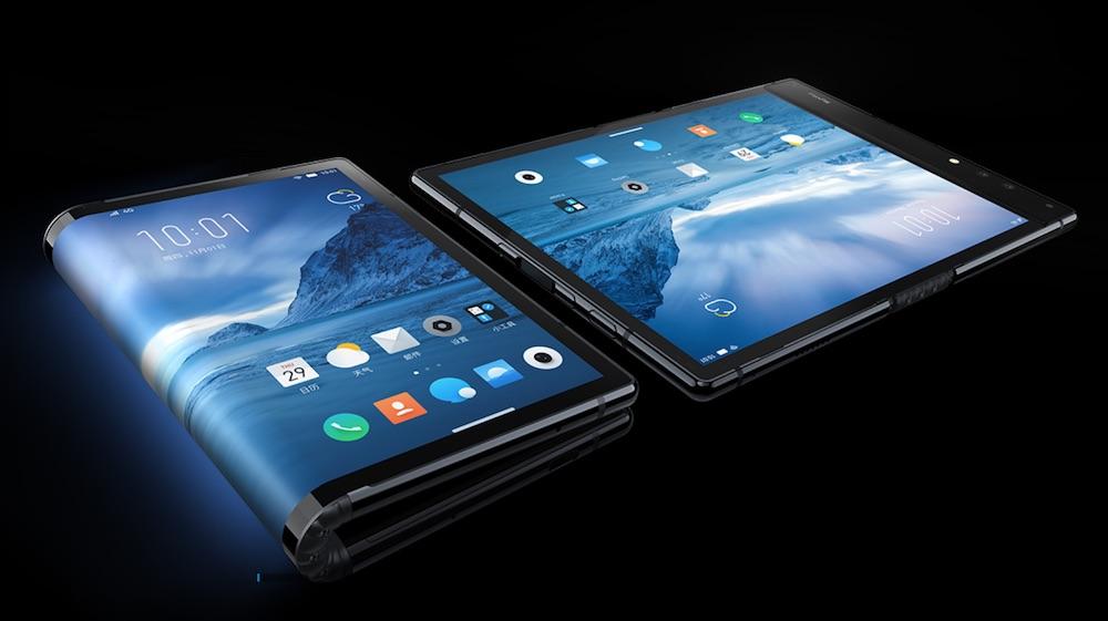 柔宇科技抢先三星带来了一款可折叠屏手机