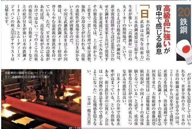 钢铁行业转型启示录!一份关于中日钢铁制造对决的深度调研报告