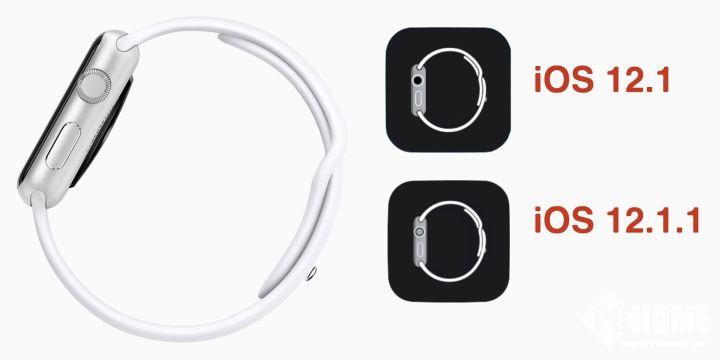 iOS 12.1.1更新:Watch应用图标发生变化