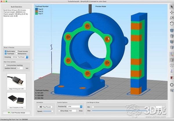 3D打印切片软件Simplify3D发布4.1版本