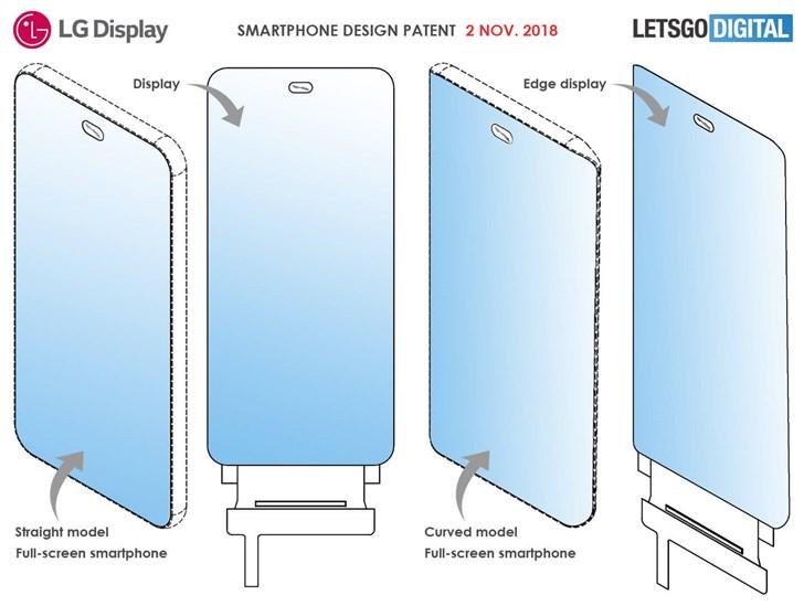 LG全面屏挖孔专利曝光:居中椭圆小孔并排放两个摄像头