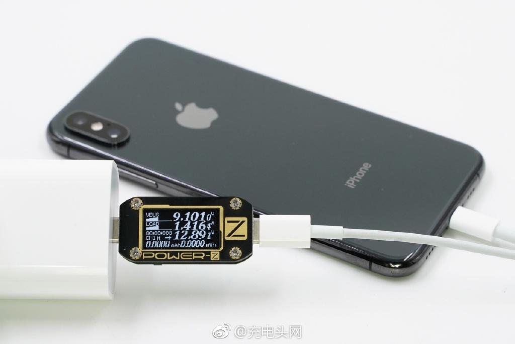 苹果原装18W USB PD充电器兼容性测试:iPhone X能开启快充