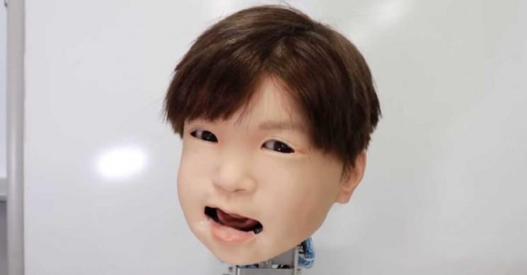 最喜欢捣鼓机器人的日本 居然研发出了儿童款的机器人面部表情