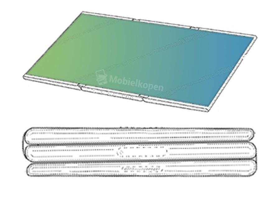 外媒再曝三星新专利 三折叠手机或将不远