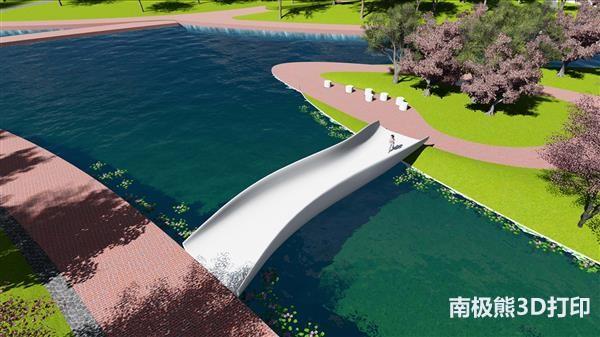 长15米重5.8吨,中国建造世界上最大的塑料3D打印人行天桥