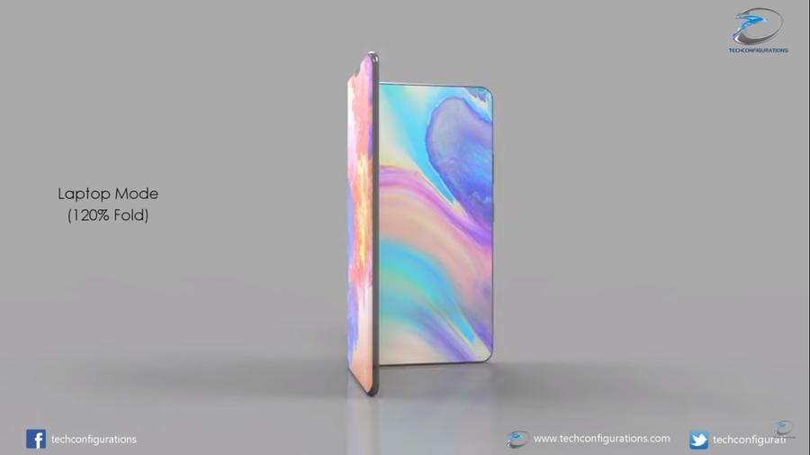 华为可折叠手机曝光 屏幕比三星大