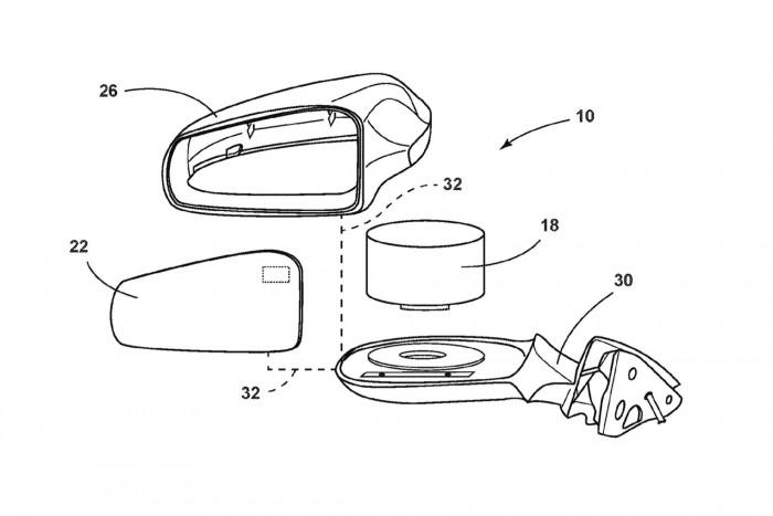 福特新专利:将激光雷达隐藏在后视镜内
