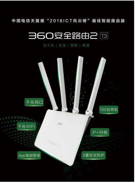 360安全路由2 T3入选电信天翼智慧家庭集采智能组网产品