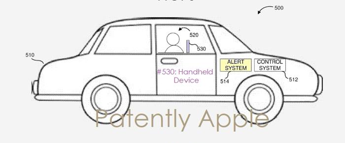 苹果自动驾驶汽车新专利:苹果设备界面发送汽车警报