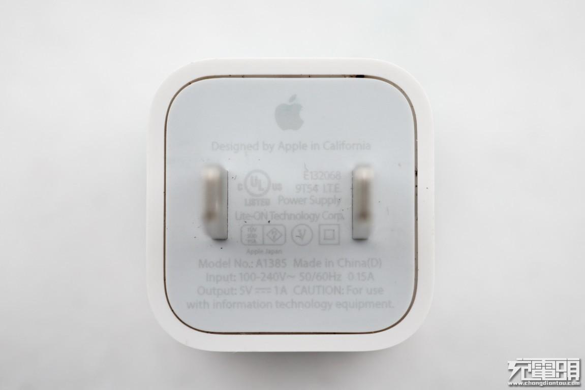苹果美规5V/1A充电器A1385拆解报告