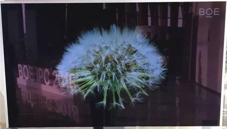 京东方推出中国首款喷墨打印55英寸4K OLED显示屏