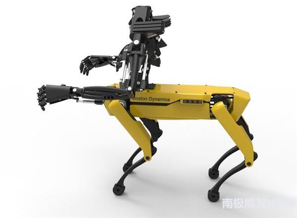 SpotMini再进化!给波士顿动力的机器狗加上3D打印仿生手臂