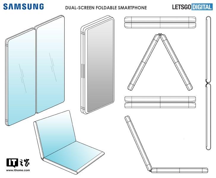 三星可折叠手机专利曝光:形似微软Surface Phone