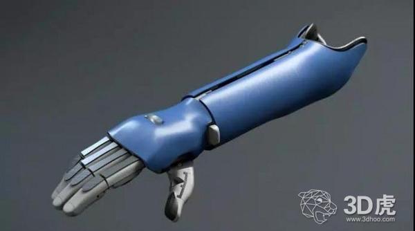 一款能够轻松抓握玻璃瓶的3D打印仿生手