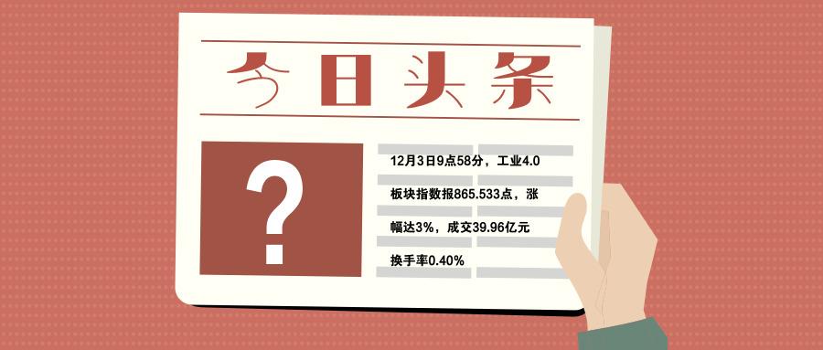 """12月开头工业4.0板块涨幅达3%,打破11月跌幅2%的""""魔咒"""""""