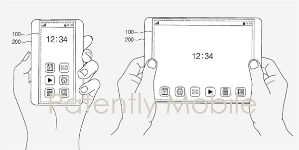 三星再发手机屏幕专利:让屏幕也能自由变大