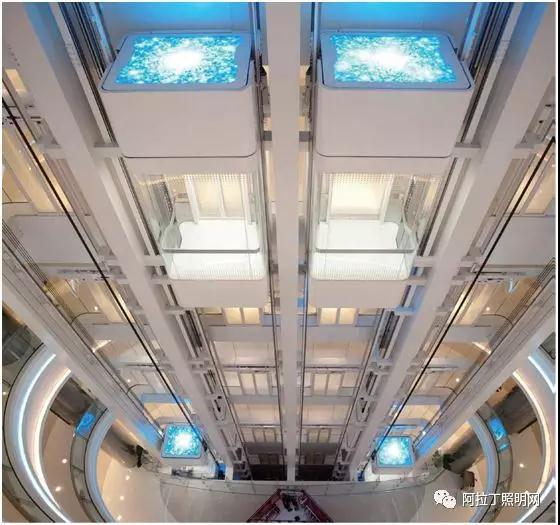 图5,锐高模组及调光驱动系列产品应用于国贸三期观光电梯照明中