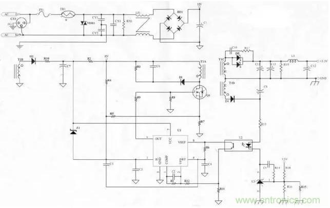 分享电源原理图及每个元件的功能详解