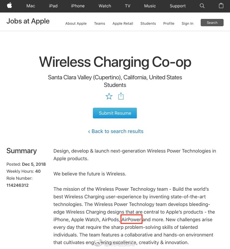 苹果并未放弃AirPower无线充:继续全球招兵买马