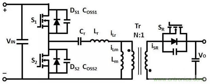 idr:次级整流二极管的电流 图1:非对称反激变换器电路结构 工作原理