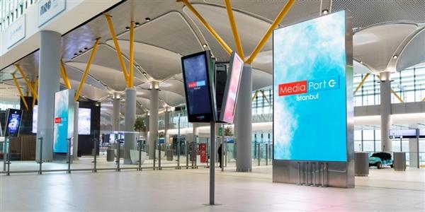 三星成功安装世界最大的机场室内LED指示屏:1012平米