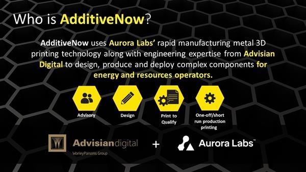 Aurora Labs成立金属3D打印合资企业,服务于石油天然气行业