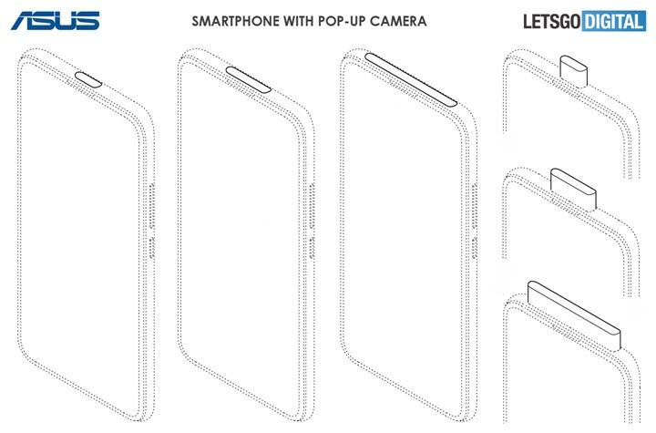 华硕全面屏手机专利曝光:宽幅弹出镜头/打孔屏