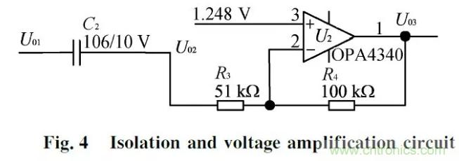 图四隔离电压放大电路设计