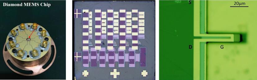 微加工技术突破 超高灵敏度金刚石悬臂MEMS芯片诞生