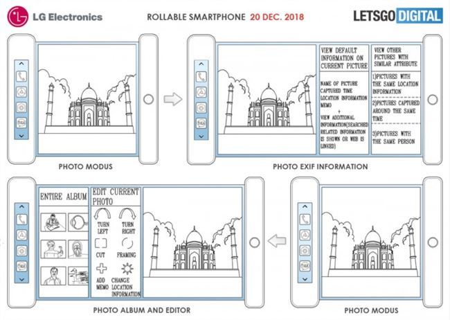 LG新专利:让手机像卷轴一样 带有激光传感器