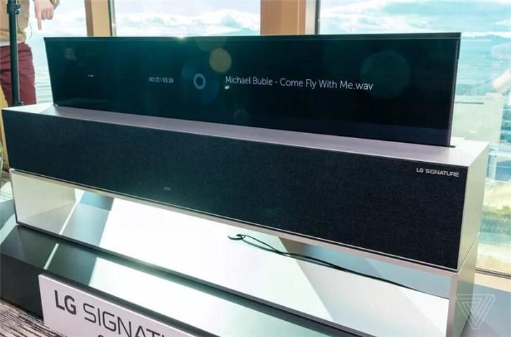 LG发布全球首款4K OLED可卷曲电视