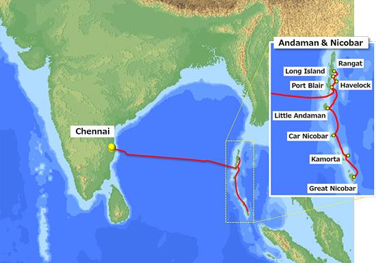 印度金奈-安达曼和尼科巴群岛海缆建设获监管许可