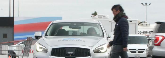 日立车载立体摄像头搭载新技术探测不平整路面 CES展推车辆远程召唤技术