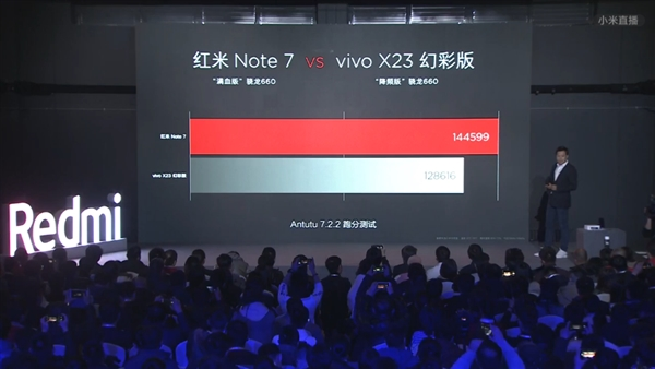 雷军公布红米Note 7配置:满血版骁龙660加持
