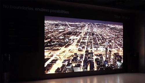 三星秀第二代MciroLED面板电视,219英寸巨无霸震撼全场
