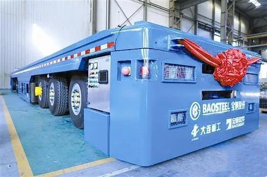 大连重工研制的百吨级AGV智能运输车顺利交付