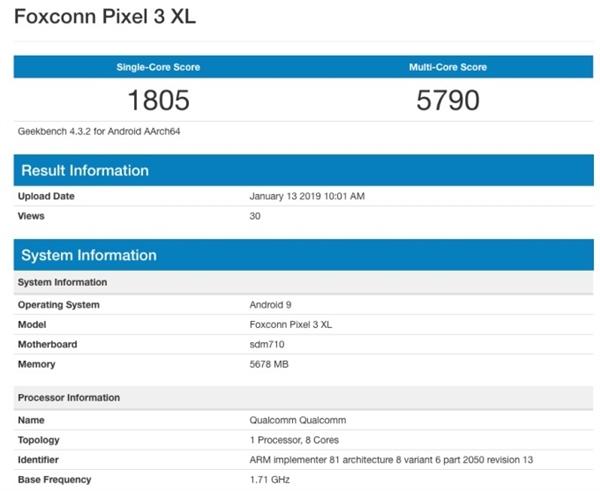 拍照无敌?谷歌Pixel 3 XL廉价版再曝光:最强单镜头