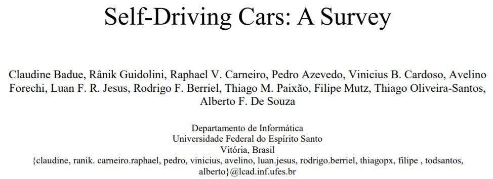一文读懂自动驾驶研究现状