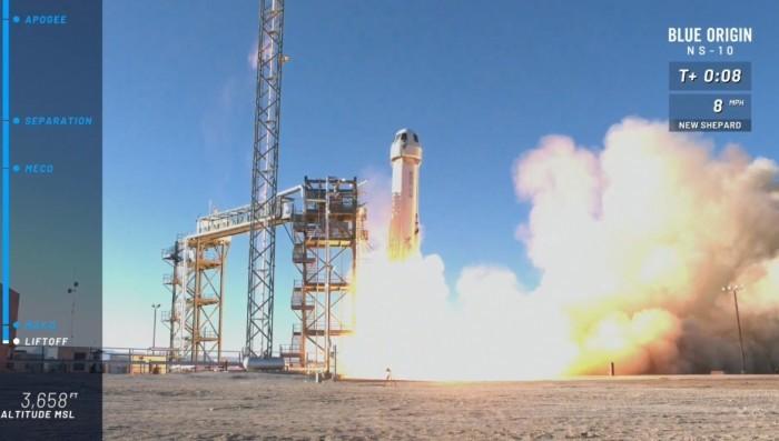 贝佐斯私人航天公司完成无人火箭试飞