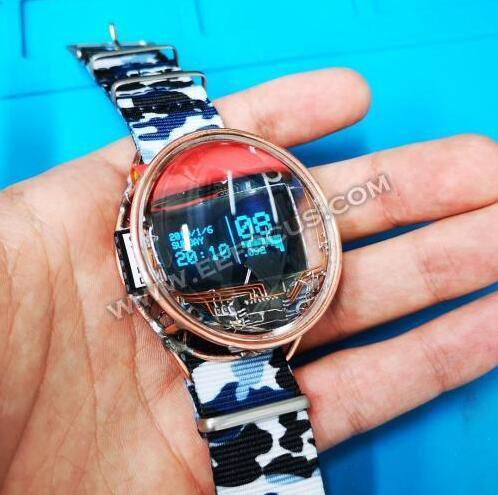 神器,他竟然不用电路板做了一块智能手表!