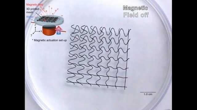 3D打印的磁性网格机器人长这样?