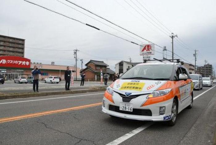 日本首次路测使用5G网络的自动驾驶汽车 速度比4G车更快