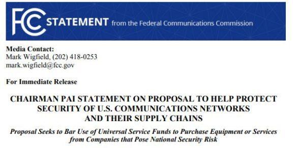 要全面禁用华为设备?美国乡村电信运营商不干了:成本太高!