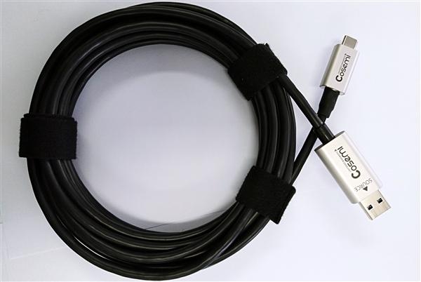 首款USB 3.1有源光纤数据线诞生:传输距离达50米