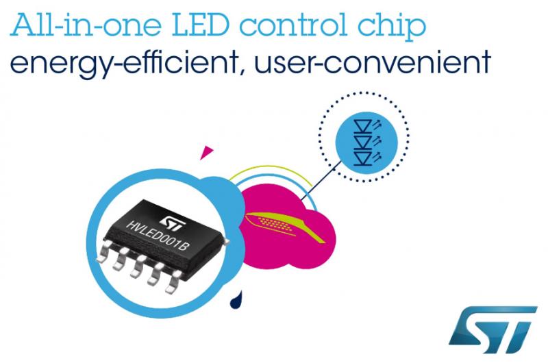 意法半导体推出更先进更节能的照明控制器