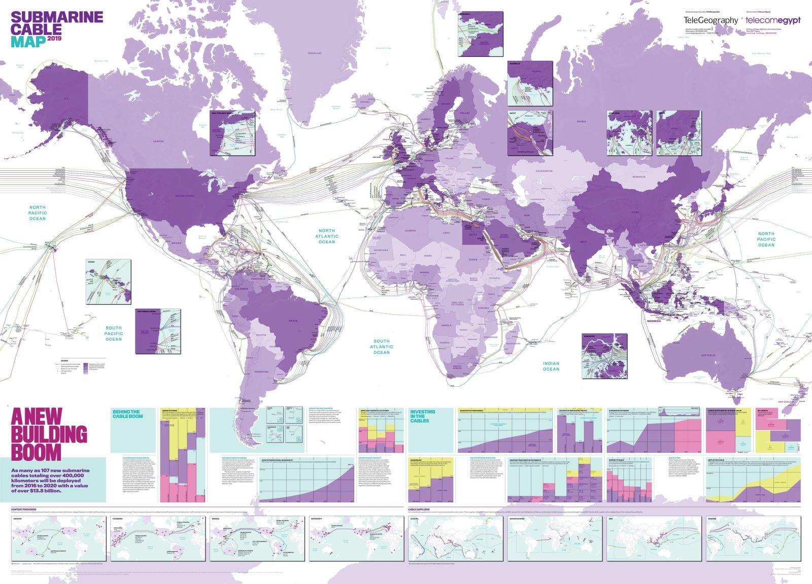 世界海底电缆地图2019版正式发布