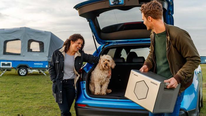 日产推出Roam设备 利用电动汽车旧电池为露营车提供便携式电源